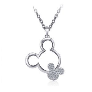 Jewelry - Mickey silver plated rhinestone necklace